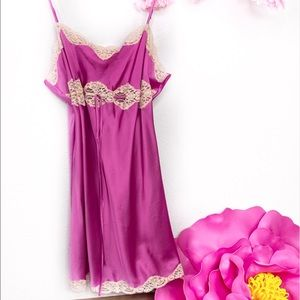Victoria's Secret Pink Satin Drawstring Nightgown